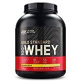Optimum Nutrition Gold Standard 100% Whey Proteína en Polvo, Glutamina y Aminoácidos Naturales, BCAA, Crema de Plátano, 76 Porciones, 2,28kg, Embalaje Puede Variar