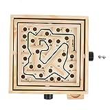 Labyrinth Brett, Holz Kinder Brettspiel Balance Ball Spielzeug Labyrinth Puzzle Spielzeug Freizeit Dekompression Spielzeug Bildungsgeschenk für Kleinkinder(Maze S)
