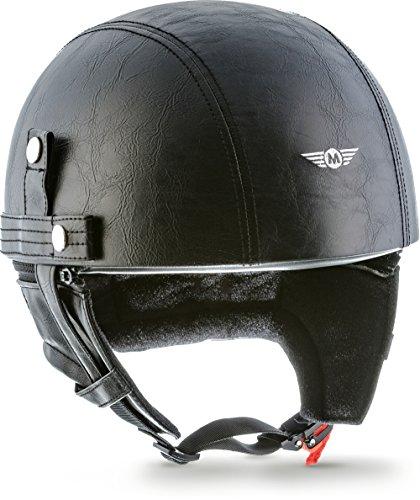 MOTO HELMETS D22-LEATHER - BRAINCAP - Casco de acero, medio casco, cas