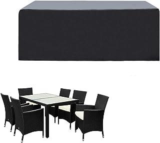 comprar comparacion SIRUITON Funda de Muebles de Jardín Exterior Mesa de jardín y Silla Cubierta de Protección Impermeable Negro (180x120x74cm)