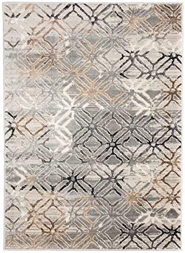 Tapis Design Magic Fabric Moderne en 4 Tailles idéal pour Salon, Chambre de Jeunesse ou Chambre à Coucher Moquette épaisse, de qualité supérieure Beige (120 x 170 cm)