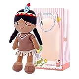 Gloveleya Bambola Bambino Baby Girl Doni psuma Morbida Prima Bambola da 1 a 2 Anni 33CM Ragazza Indiana…
