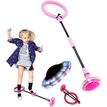 Generisch Gl/ühender Springender Ball LED Spielzeug Blinkende Outdoor Sports Fitness Spielzeug lustiges Spielzeug f/ür Kinder und Erwachsene Blau Faltbare Kinder Blinkender Springring