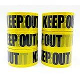 padou 【d-tape】 パッキングテープ6個セット (KEEP OUT 6個セット) OPP製 パッキング用 セロテープ デザイン デコレーション シールテープ (幅4.8cm×長さ25m)