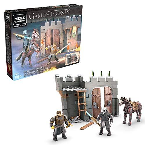 Mega Construx GMN73 - Mega Construx Probuilder Game of Thrones Verteidigung von Winterfell, enthält Actionfiguren mit 12 Bewegungspunkten, Spielzeug ab 16 Jahren