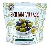 Sicilian Village Marinated Olives, Green/Black, 1.7 Oz (Pack of 10)