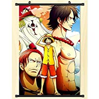 ポスタープリントアニメウォールスクロールハンギングペインティングアートペインティングウォールホームデコラティブギフト One Piece 50x75cm