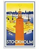 AZSTEEL Stockholm Vintage Travel Vertical Poster - Best