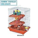 BPS PET SHOP Gabbia per CRICETI Gabbia Criceto Castello con Scivolo per CRICETI...