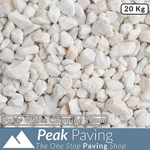 Polar White Decorative Aggregates Slate Chippings Garden Gravel 10mm 20 Kg