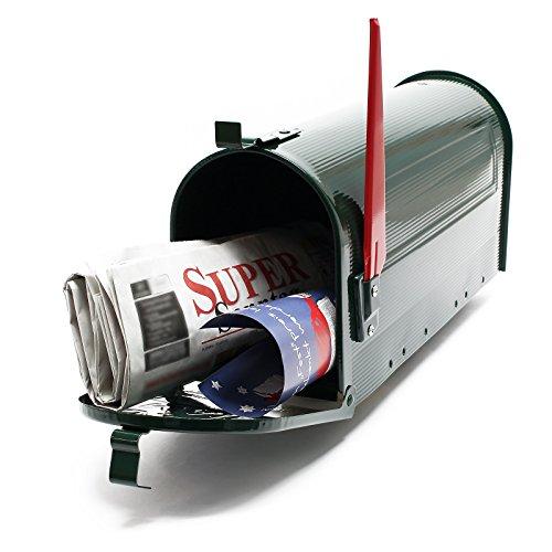 Buzón US Mail diseño Verde americano decorativo Correo Postal Soporte de pared pie