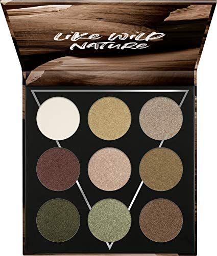 Essence Eyeshadow Palette with 9 Blendable Green & Neutral Shades