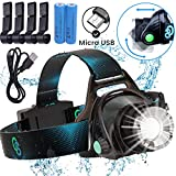 Rechargeable Headlamp, Hard Hat Light – Adults...