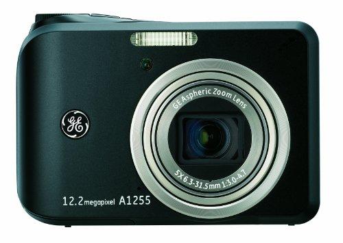 GE General Electric A1255 Cámara Digital (12 MPX, 5-Zoom óptico, 6,9 cm Display (2,7-Pulgadas), Auto-panorámicas, estabilizador de Imagen)