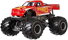 Outrageous assortment of 1:24 scale Hot Wheels Monster Trucks with durable die-cast metal bodies! Packed out with awesome stats on back giving details of their strength, crash attack, motor-vation and more! Built to smash and crash everything in sigh...
