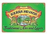 Cartel coleccionable de pared de Sierra Nevada, retro, de metal, decoración de pared, para casa, oficina, bar, garaje, cafetería, hotel, cueva de los hombres, 20 x 30 cm