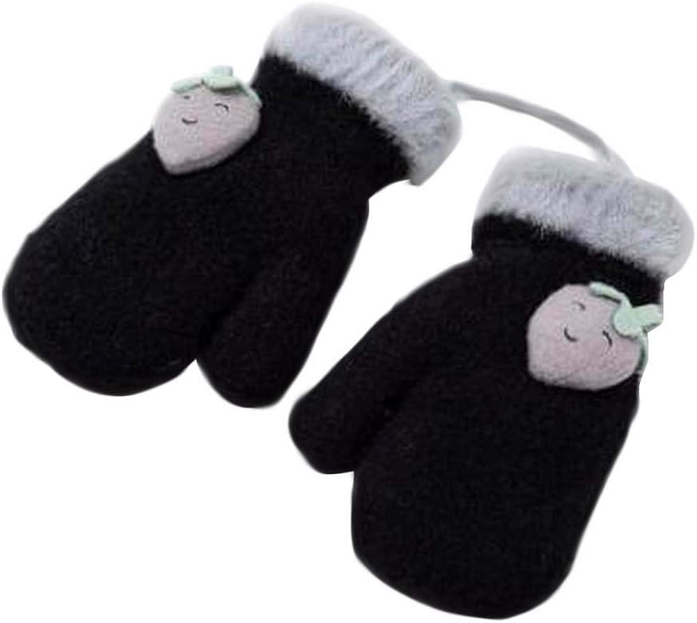 Lovely Knitted Baby Mittens Warm Winter Children Mittens Baby Gloves #02
