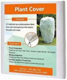 Agfabric Plant Covers Freeze Protection - 0.95oz H48 x W55 Shrub Cover, Winter Tree Cover for Season Extension & Frost Protection, White