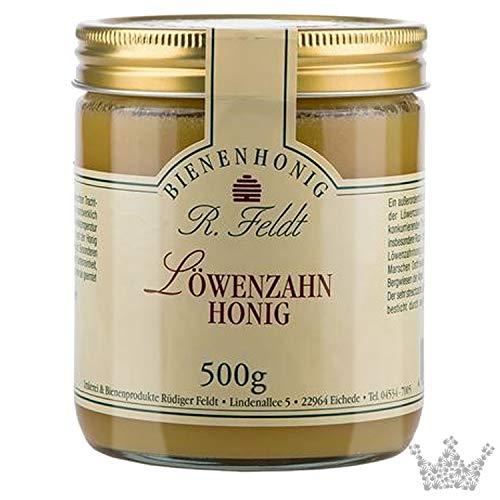 Löwenzahn Honig, dunkelgelb, mild & scharf, 500g