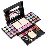 Alupper Sombra de ojos y paleta de maquillaje [35 colores brillantes] brillo labial de materia y brillo - cepillos para rubor - Paleta cosmética altamente pigmentada