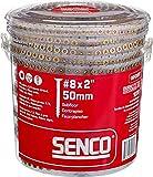 Senco 08F200Y Duraspin# 8 by 2' Subfloor Collated Screw (1, 000per Box)