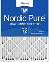 Nordic Pure 18x24x1 MERV 12 Pleated AC Furnace Air Filters 6 Pack