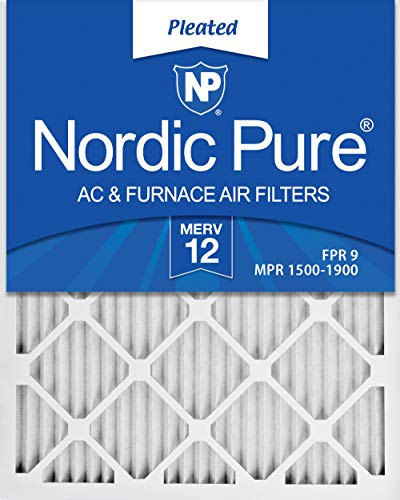 Nordic Pure 16x25x1 MERV 12 Pleated AC Furnace Air...