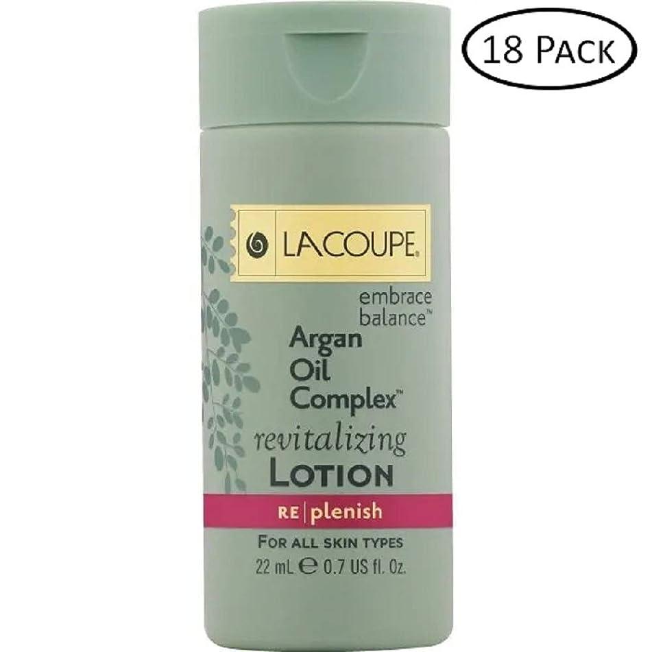 LA Coupe Lotion Argan oil complex revitalizing lotion - Set of 18-0.75 Oz each - total 13.5 Oz