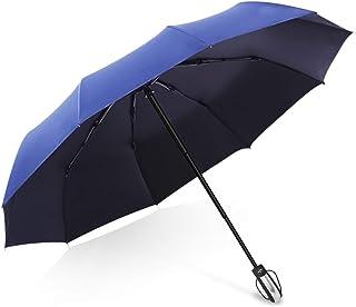 MissZZ Parapluie de Voyage Pliable à Fermeture Automatique, 210T Haute densité ventilé résistant au Vent résistant à la Pl...