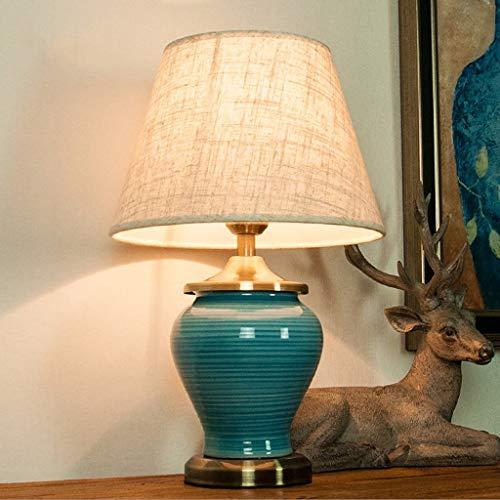 Práctico Y Simple Lámpara de Mesa Lámpara de Escritorio Luz Modernas Lámparas de Ahorro de Energía Led, Lámparas de Cerámica Creativas, Luces Decorativas de la Sala de Estar Del Dormitorio de Hotel d