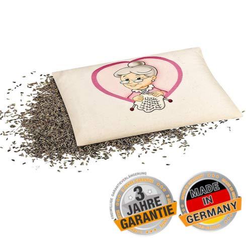 Lavendelkissen Lieblings-Oma Aroma-Kräuter-Kissen - 20-x-25-cm - Bezug aus Baumwolle - zur Entspannung & Beruhigung bei Stress - mit franz. Lavendel aus Bio Anbau - abgefüllt in Deutschland