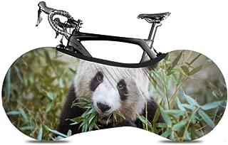 QuqUshop Cute Panda Eating Bamboo Multi Bike Cover Cubierta de Rueda de Bicicleta Cubiertas de Bicicleta Mantiene los Pisos y Las Paredes sin Suciedad Ajuste Casi Todas Las Bicicletas