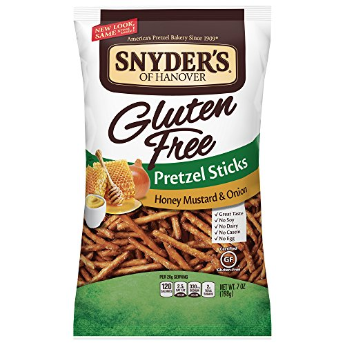 Snyder's Of Hanover Gluten Free Pretzel Sticks Honey Mustard & Onion (Pack of 6)