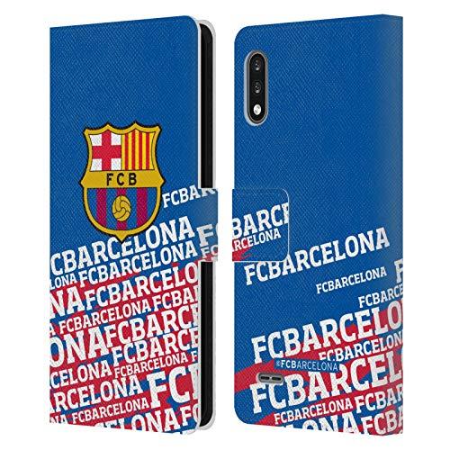 Head Case Designs Licenciado Oficialmente FC Barcelona Impacto 2017/18 Crest Carcasa de Cuero Tipo Libro Compatible con LG K22