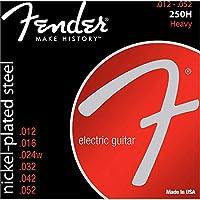 Fender エレキギター弦 Super 250 Guitar Strings, Nickel Plated Steel, Ball End, 250H .012-.052