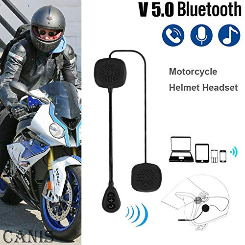 Motorhelm Headset, SUNWAN - Draadloze Bluetooth 5.0 Intercom Hoofdtelefoon, Oplaadbare Handsfree Speakers met Microfoon