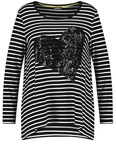 Samoon T-Shirt 1/1 Arm, Nero, 54 Donna