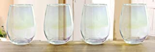 Circleware Radiance Stemless Wine Glasses, Set of 4 Home Party Entertainment Dining Beverage Drinking Glassware Cups for W...