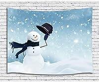 FJTP壁タペストリー子供のための冬の雪のかわいい雪だるまクリスマスファッショナブルなタペストリー壁ハニング大学寮の家の装飾