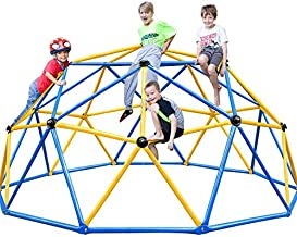 Zupapa 2020 Upgraded Dome Climber with 2-Year Warranty, Decagonal Geo Jungle Gym Supporting 735LBS with Much Easier Assembly, a Lot of Fun for Kids (Blue)