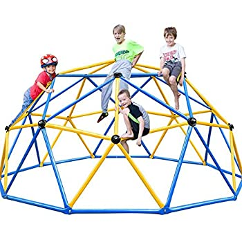 Zupapa 2021 Upgraded Dome Climber with 2-Year Warranty Decagonal Geo Jungle Gym Supporting 735LBS with Much Easier Assembly a Lot of Fun for Kids  Blue