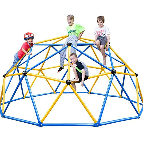 Zupapa 2020 Upgraded Dome Climber, Decagonal Geo Jungle Gym Supporting 735LBS with Much Easier Assembly, a Lot of Fun for Kids, 2-Year Warranty