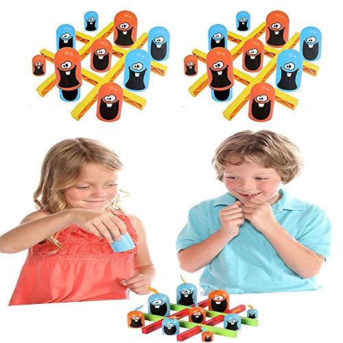 (Big Eat Small) Juego Tic-TAC-Toe Habilidades de Memoria y Juegos de Mesa de Pensamiento estratégico Juguetes de educación temprana para Padres e Hijos