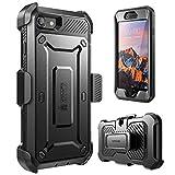 SUPCASE Unicorn Beetle Pro Coque iPhone 7 Plus Coque de Protection Intégrale à Double Couche avec Protecteur d'écran Intégré et Clip de Ceinture pour iPhone 7 Plus/8 Plus, Noir