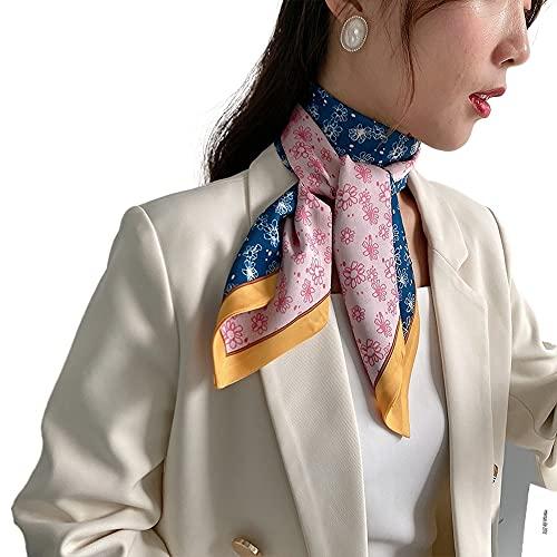 Tqbluq Primavera ed Estate Piccola sciarpa di Seta Multiuso Versatile sciarpa Collo flottante Testa sciarpa Capelli femminili tie120 * 13CM