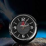 Reloj de ventilación de aire del automóvil para Mitsubishi adorno del tablero de instrumentos Reloj de cuarzo Material de aleación Movimiento de cuarzo Puntero luminoso accesorios para automóvil negro