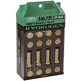 KYO-EI (協永産業) KYOKUGEN Closed End Type 7角形状ナット 42mm M12xP1.25 ゴールド 20個入 HPF3A4
