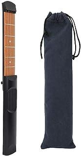 Salinr ポータブルギター ポケットギター 練習用ツール ポケットストリングス 6フレット マラカス 収納袋 軽量で、持ち運びや練習が簡単 練習用 初心者向け 練習用ガジェットツール ギター補助
