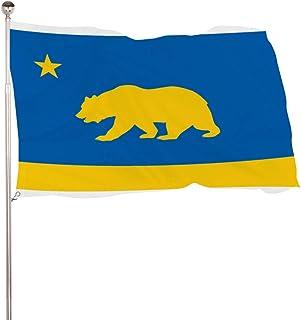 ECONG California Bear Jardín Bandera Logotipo Colorido Impresión a Doble Cara Decoración Patio Casa Casa Villa Granja Al Aire Libre Regalo Exterior