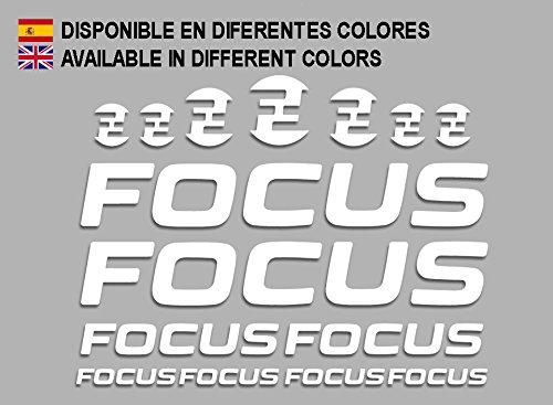 Ecoshirt 7S-2TZ5-JUZ6 Pegatinas Focus F192 Stickers Aufkleber Decals Adesivi MTB Cicle Bike, Blanco